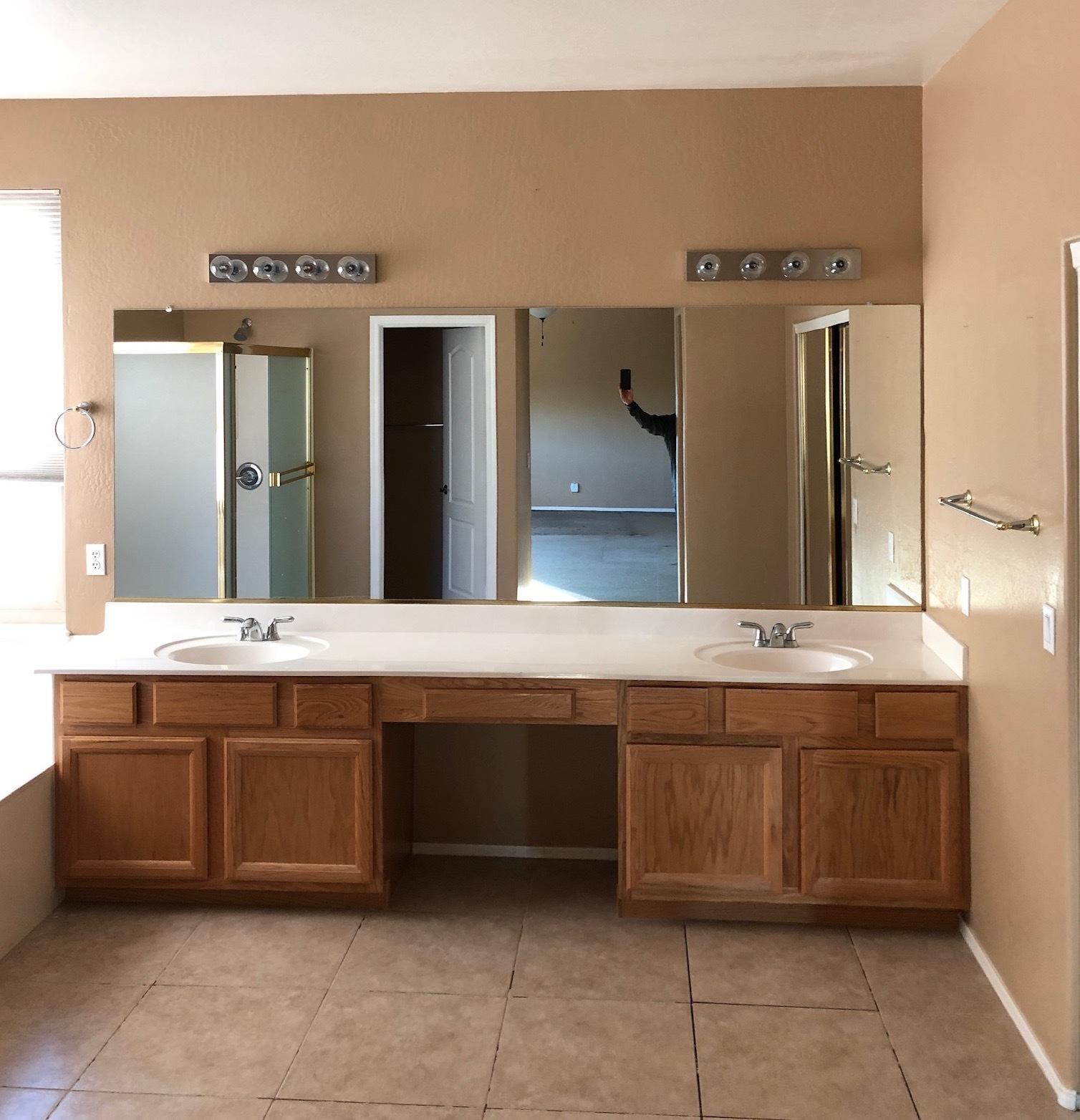 master bathroom vanity remodel Ahwatukee before